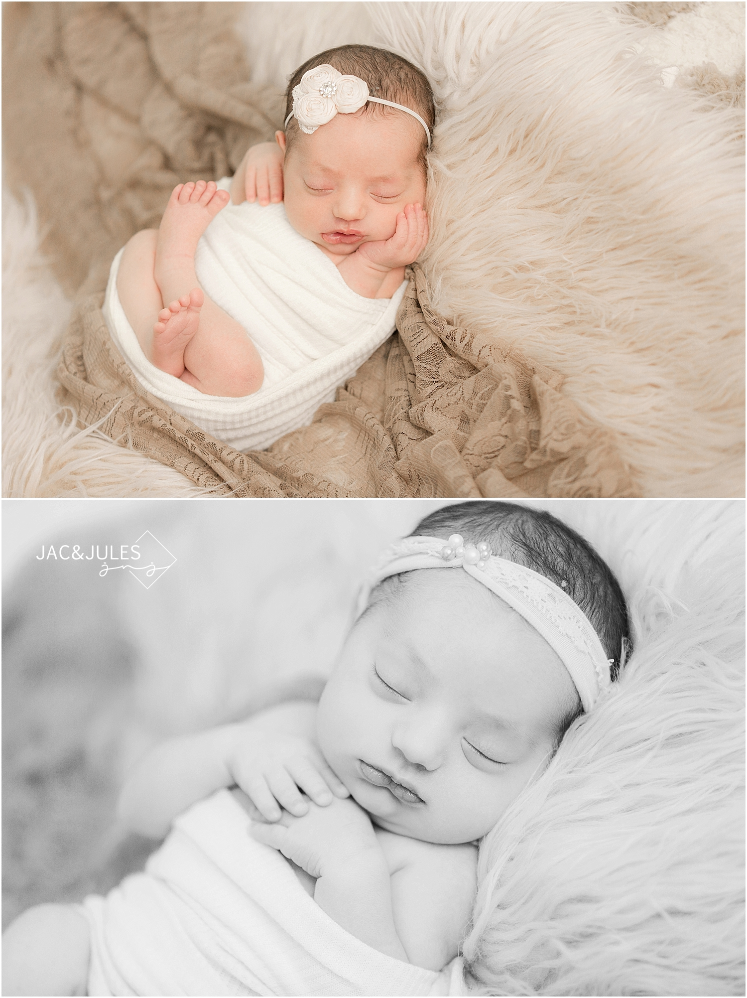 jacnjules photographs natural newborn baby girl in her home in Middletown, NJ