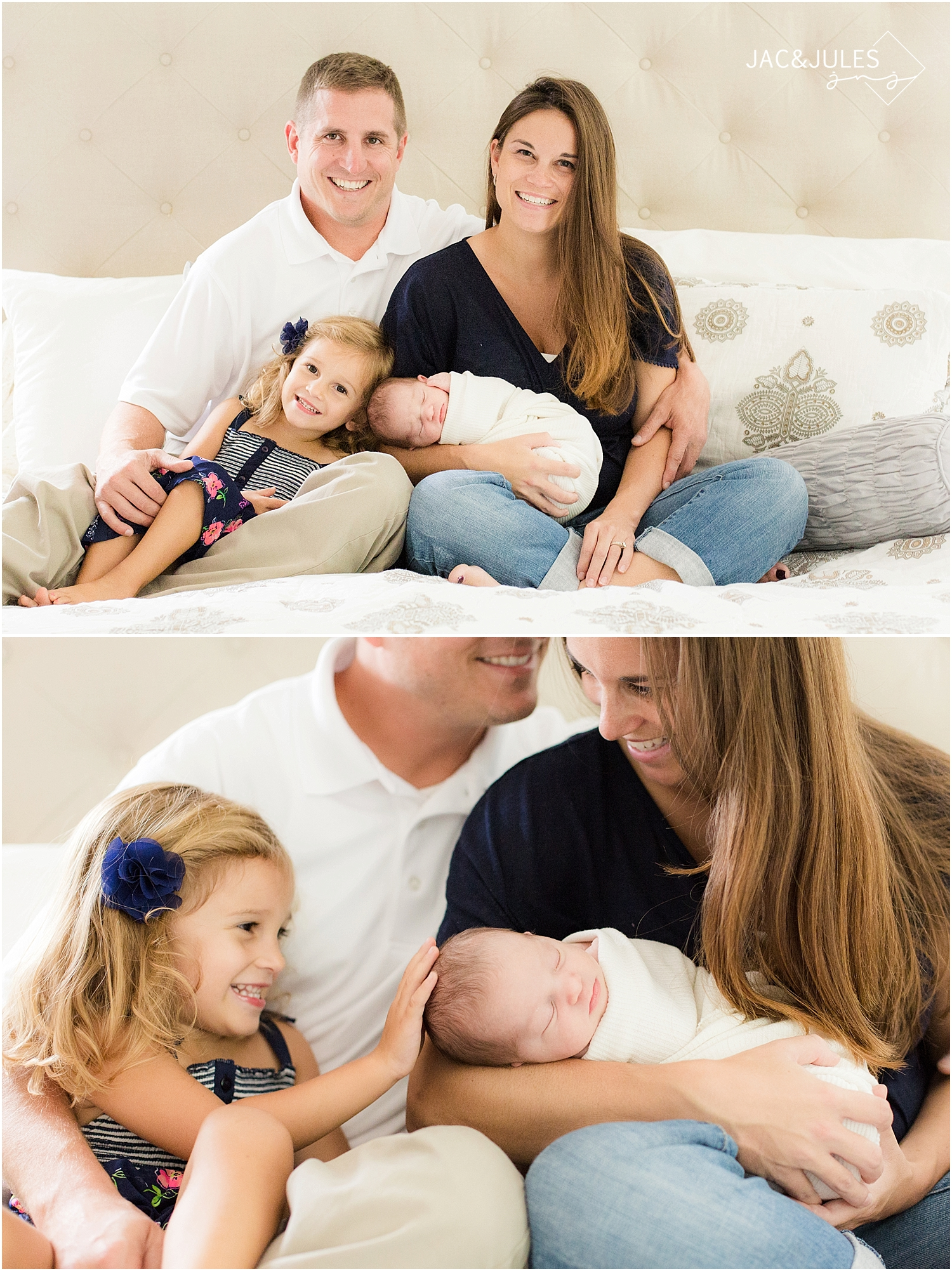 jacnjules photograph a newborn baby girl and her family in Toms River, NJ