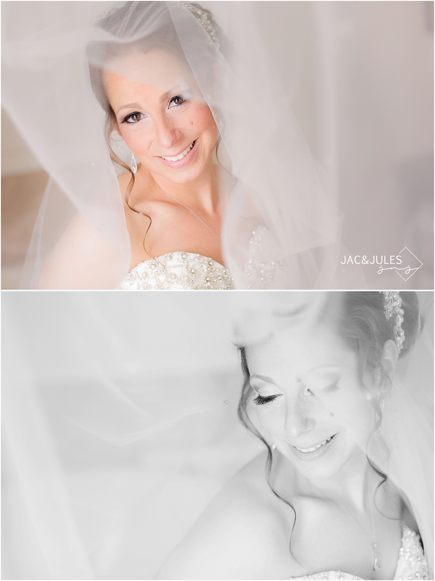 jacnjules takes bridal portrait at a wedding at Wilshire Grand Hotel in West Orange, NJ