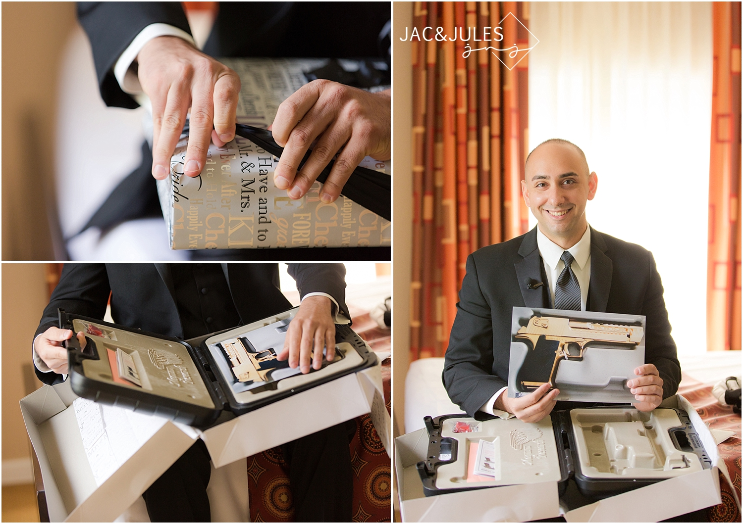 jacnjules photograph a groom getting ready at the Wilshire Grand Hotel in West Orange, NJ