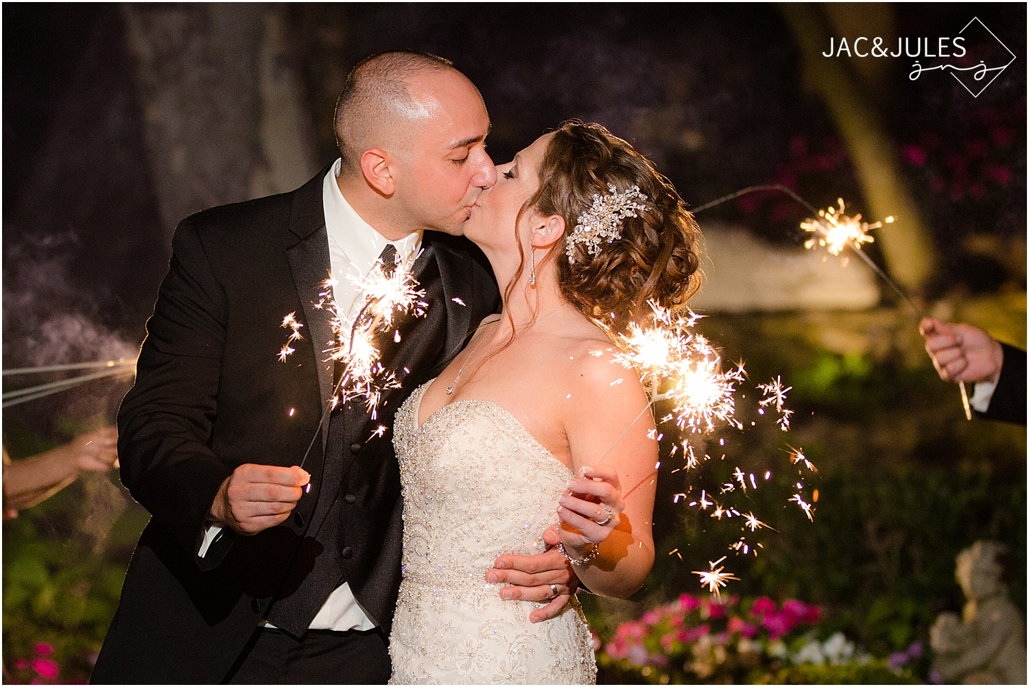 jacnjules photograph a sparkler exit at Nanina's in the Park in West Orange, NJ