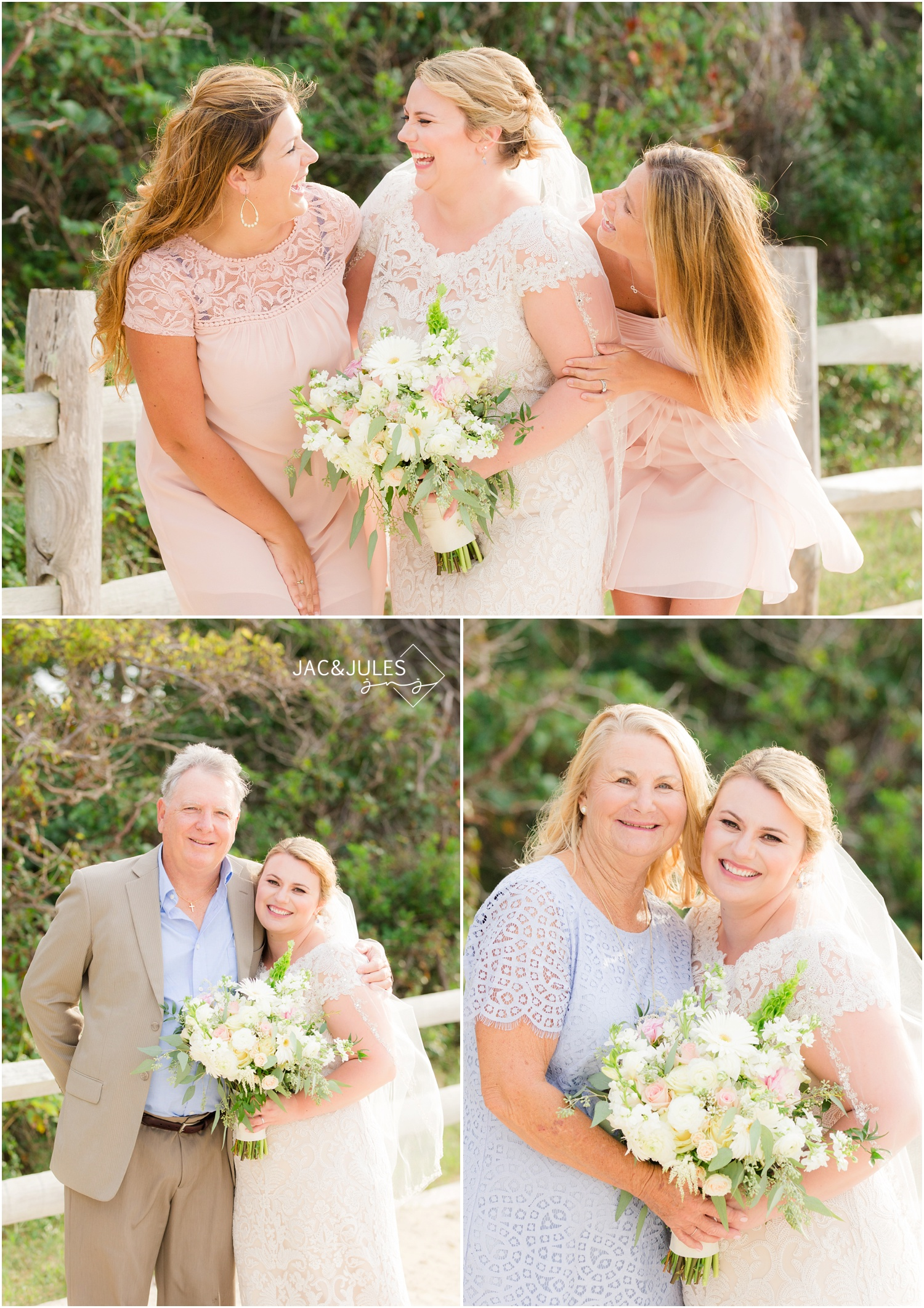 bridal party photos at barnegat lighthouse in Long Beach Island, NJ