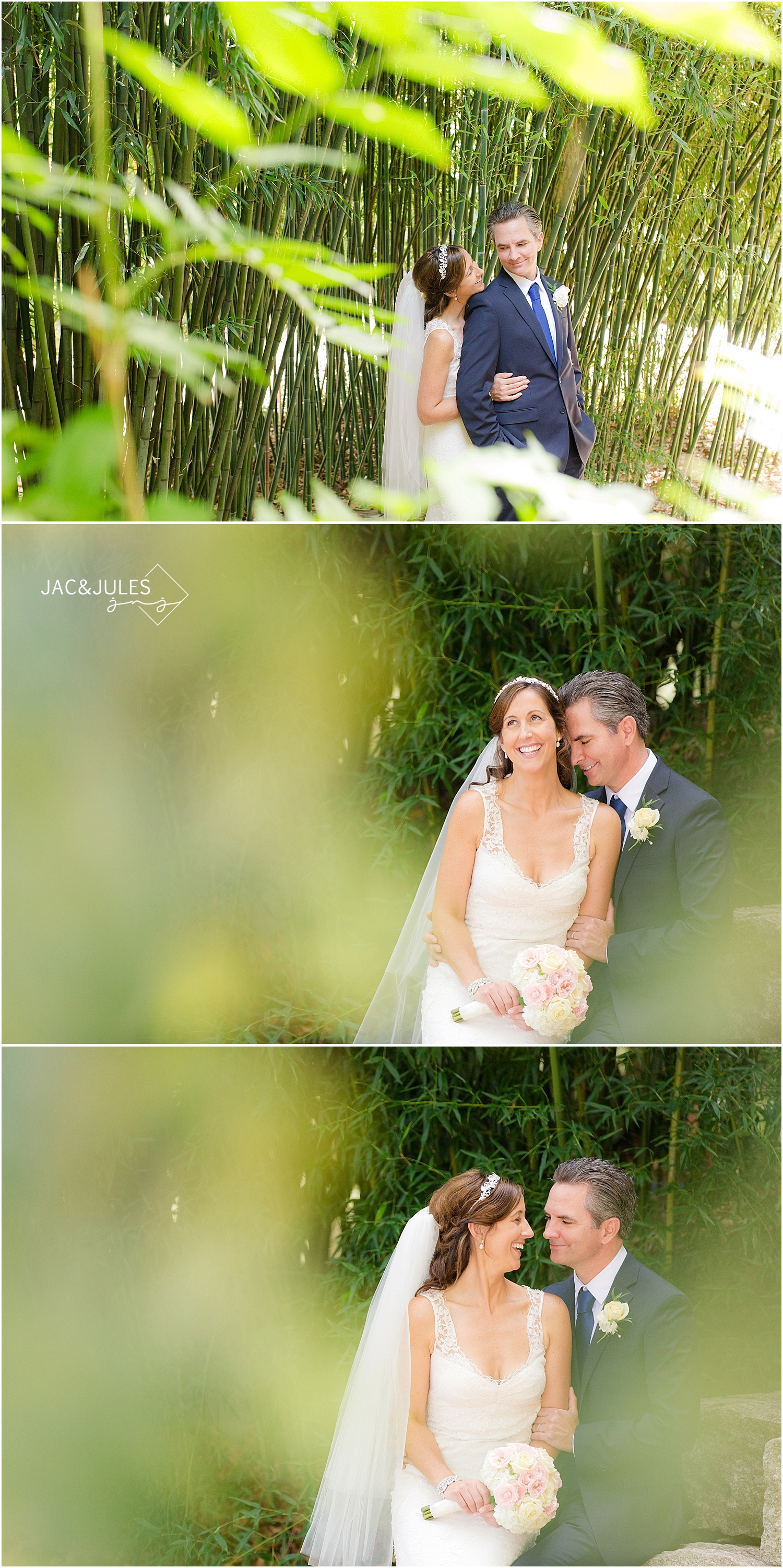 jacnjules photographs bride and groom on their wedding day at Grounds for Sculpture in Hamilton, NJ