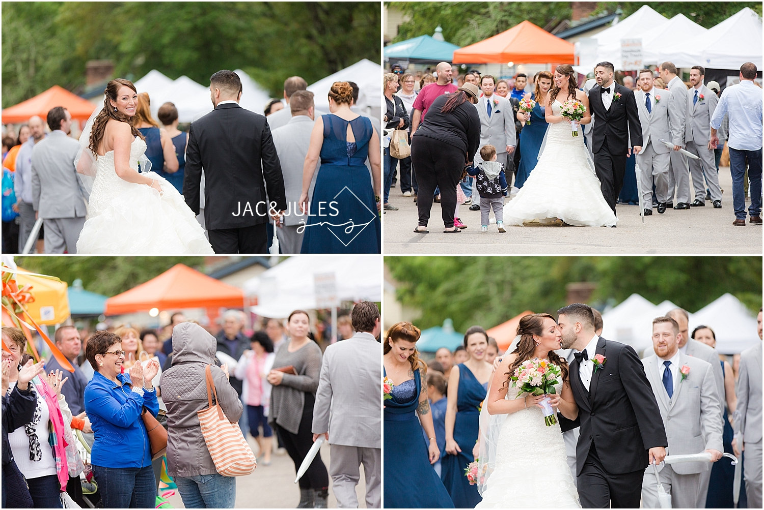 jacnjules photograph a fun bridal party at a festival in Smithville NJ for a wedding