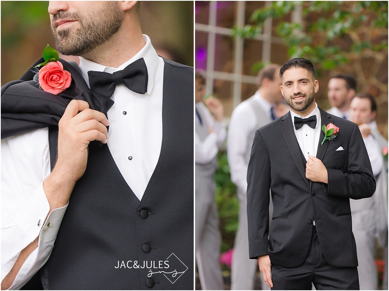 jacnjules photograph a groom on his wedding day in Smithville Village NJ