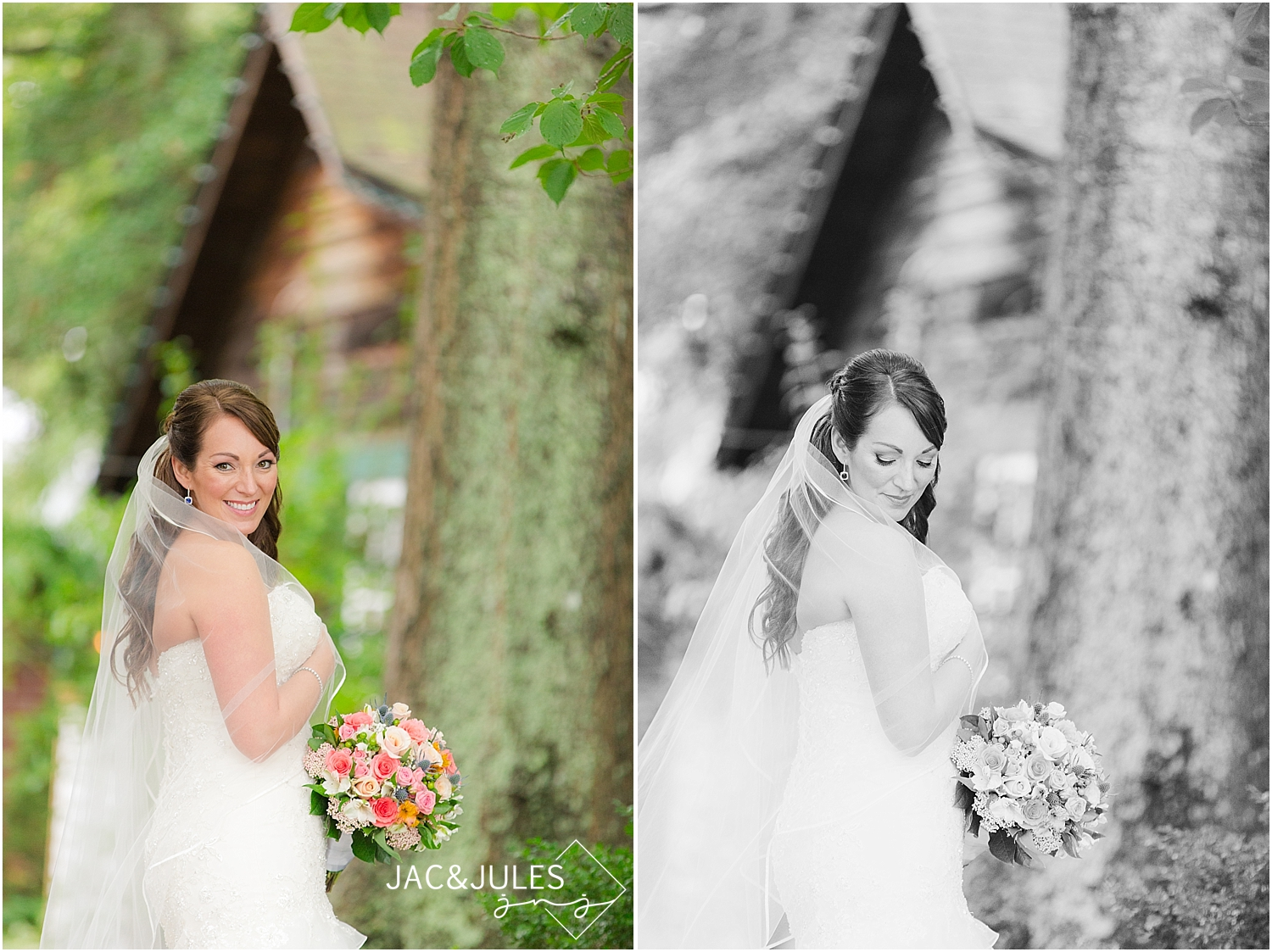 jacnjules photograph a bride on her wedding day in Smithville, NJ
