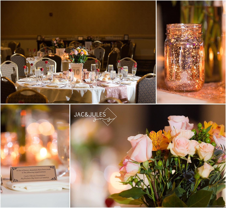 jacnjules photograph rose gold wedding details at Stockton at Seaview in Galloway, NJ