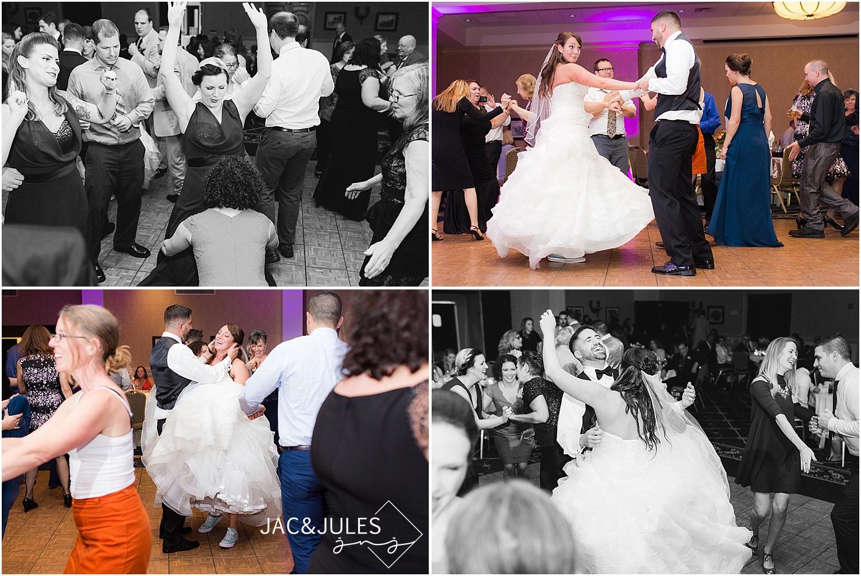 jacnjules photograph a wild, fun wedding reception at Stockton at Seaview in Galloway, NJ
