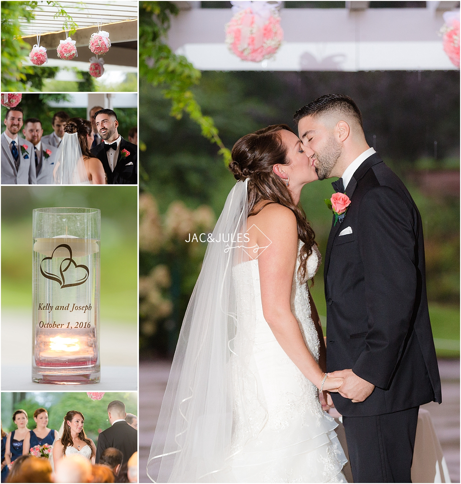 jacnjules photograph a romantic wedding ceremony on Stockton at Seaview in Galloway, NJ