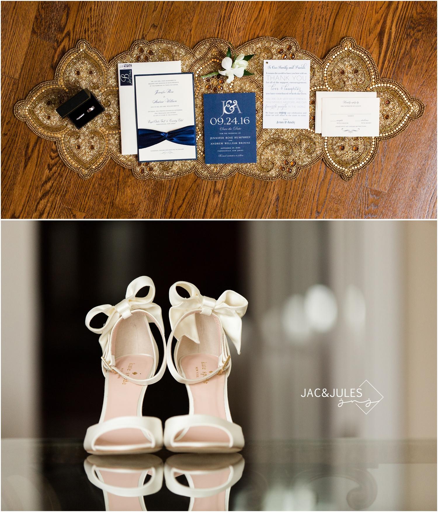 Wedding Stationery suite during bride prep in Manasquan NJ.