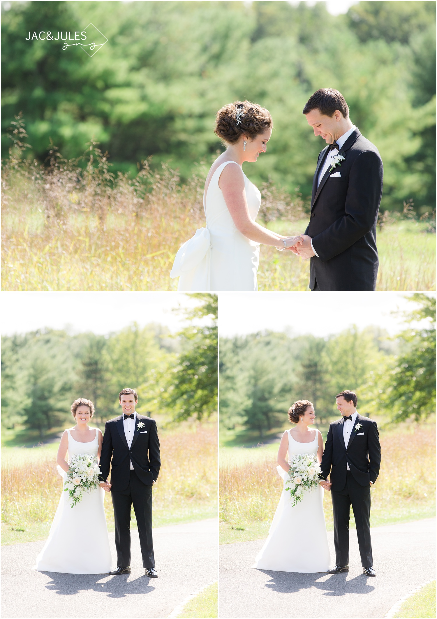 bride reveal at eagle oaks golf and country club in wall, nj.