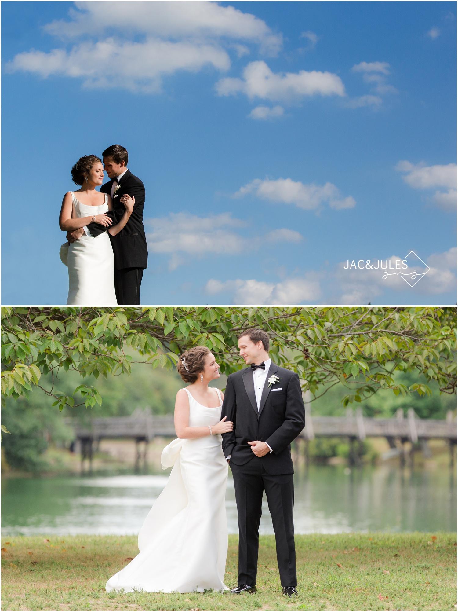 bridal party portraits at divine park in spring lake, nj.