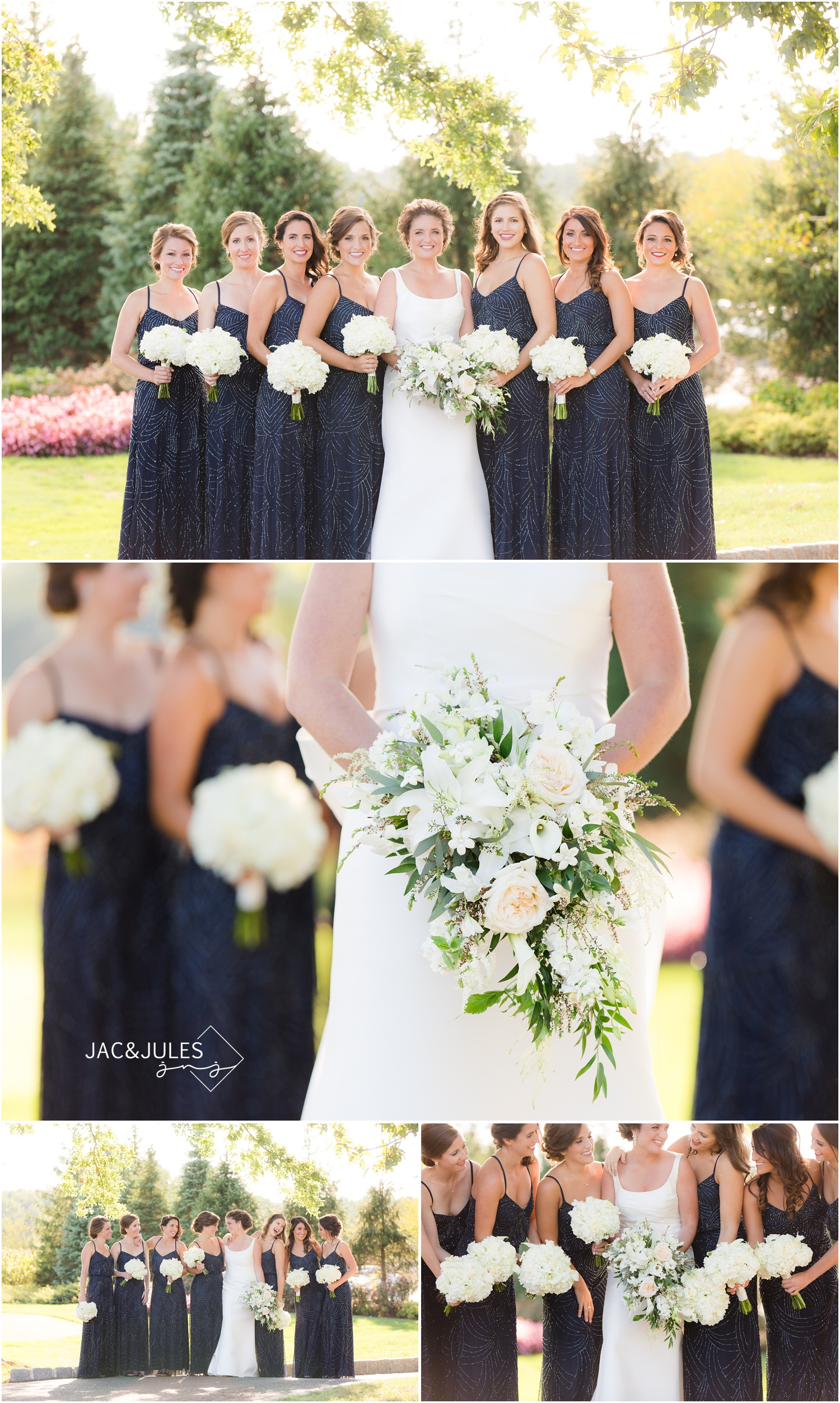 bridesmaid pictures at eagle oaks golf and country club in wall, nj.
