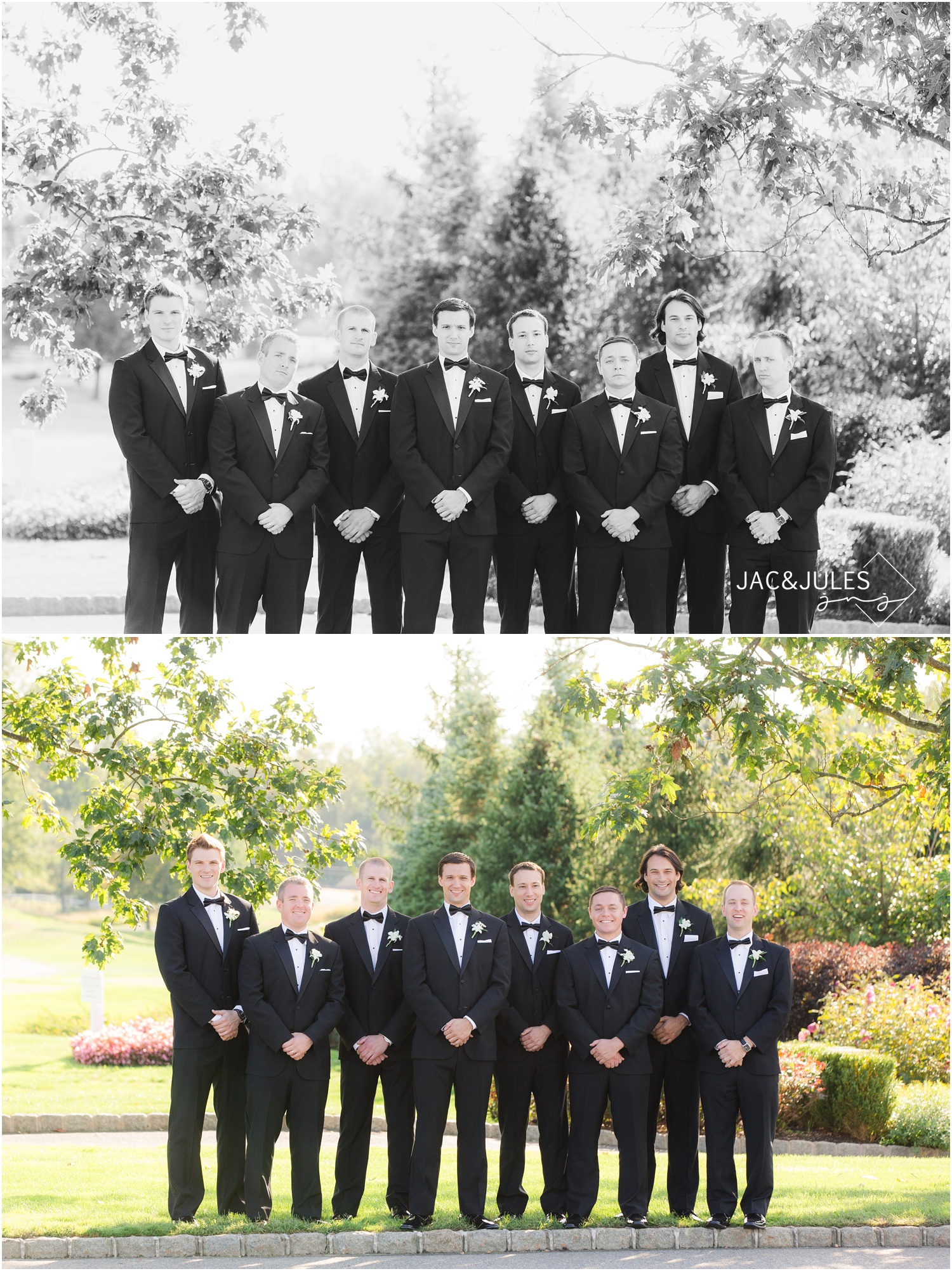 groomsmen pictures at eagle oaks golf and country club in wall, nj.