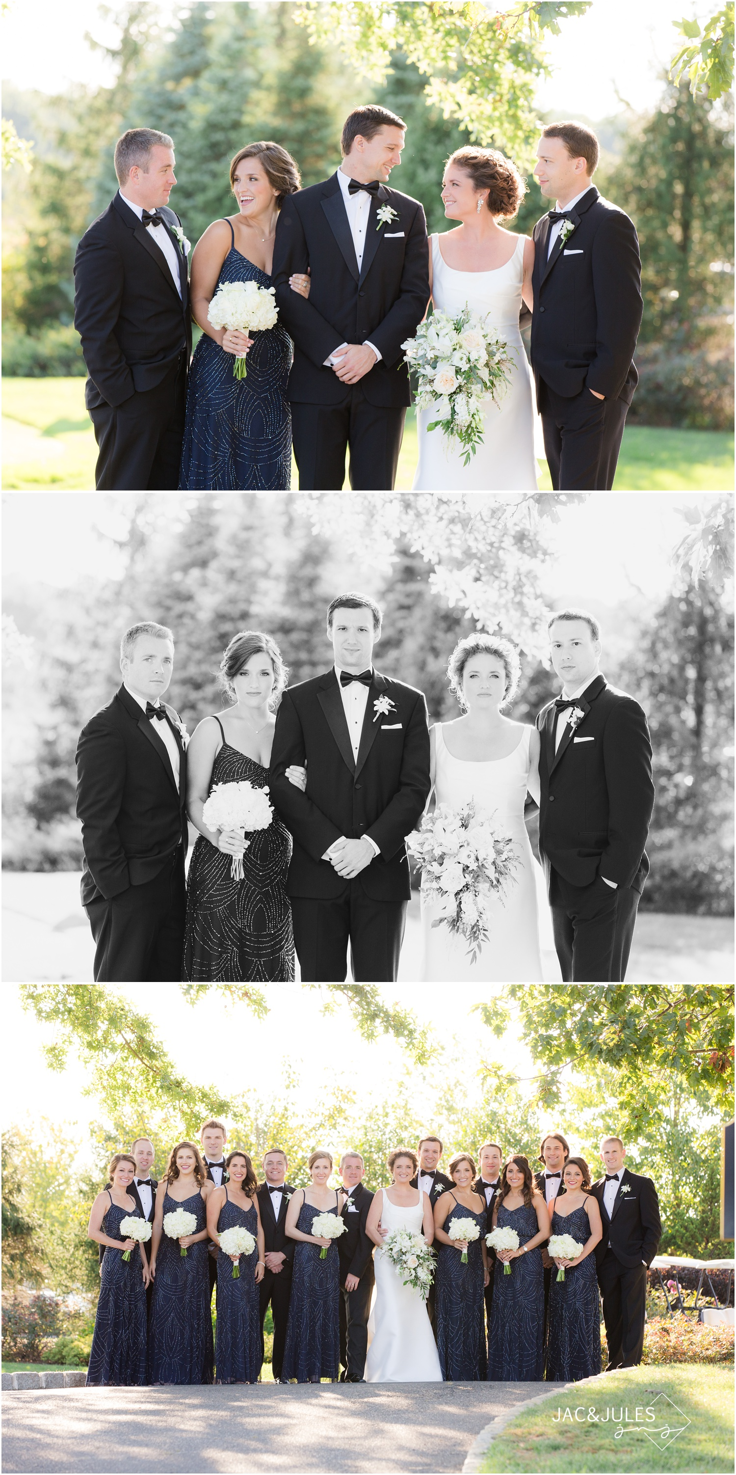 bridal party photos at eagle oaks golf and country club in wall, nj.