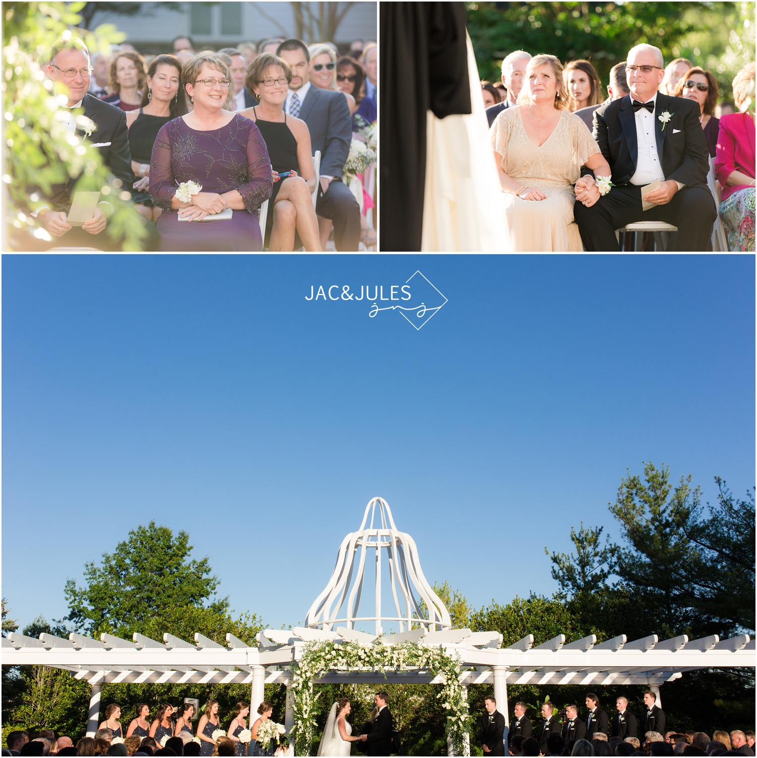 wedding ceremony at eagle oaks golf and country club in wall, nj.