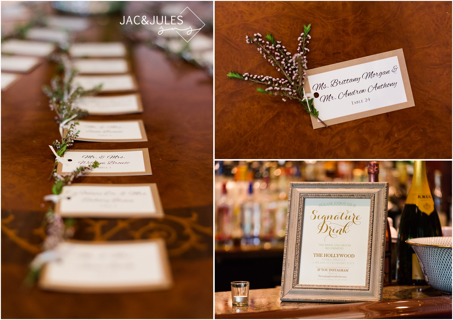 reception decor at eagle oaks golf and country club in wall, nj.