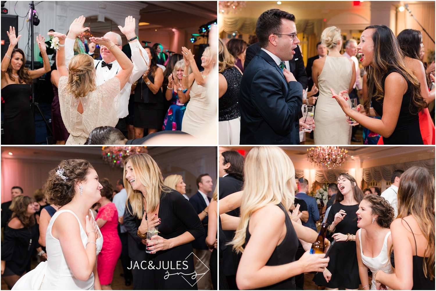 wedding reception at eagle oaks golf and country club in wall, nj.