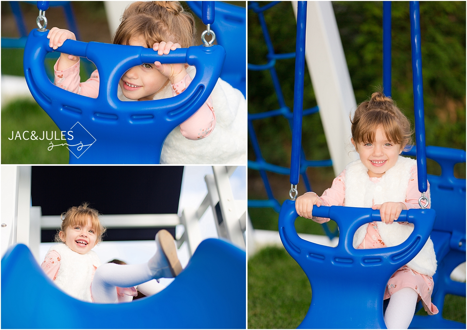 jacnjules photograph a girl on the swings at their home in Toms River, NJ