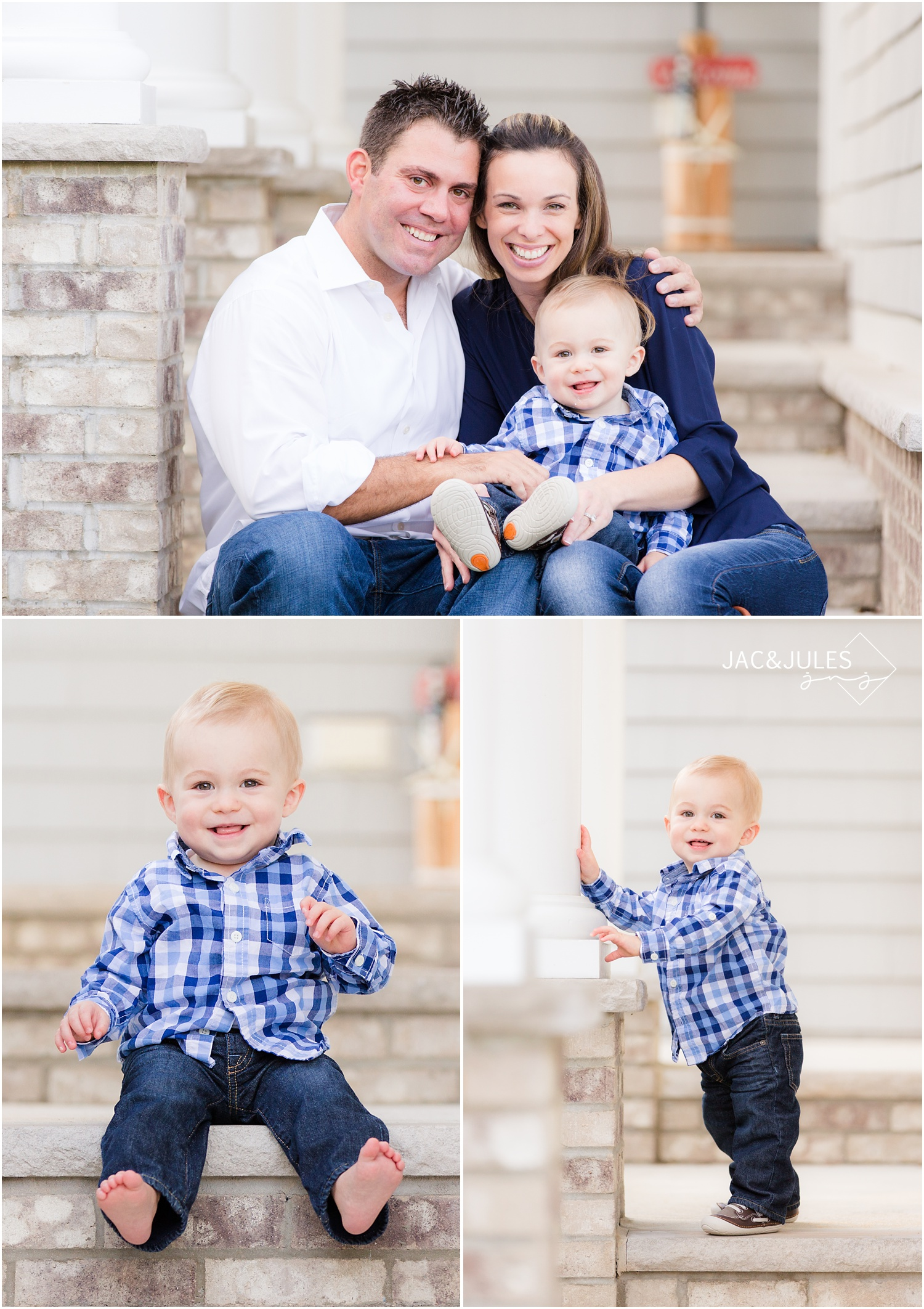 first birthday and family photos at home in Brielle, NJ