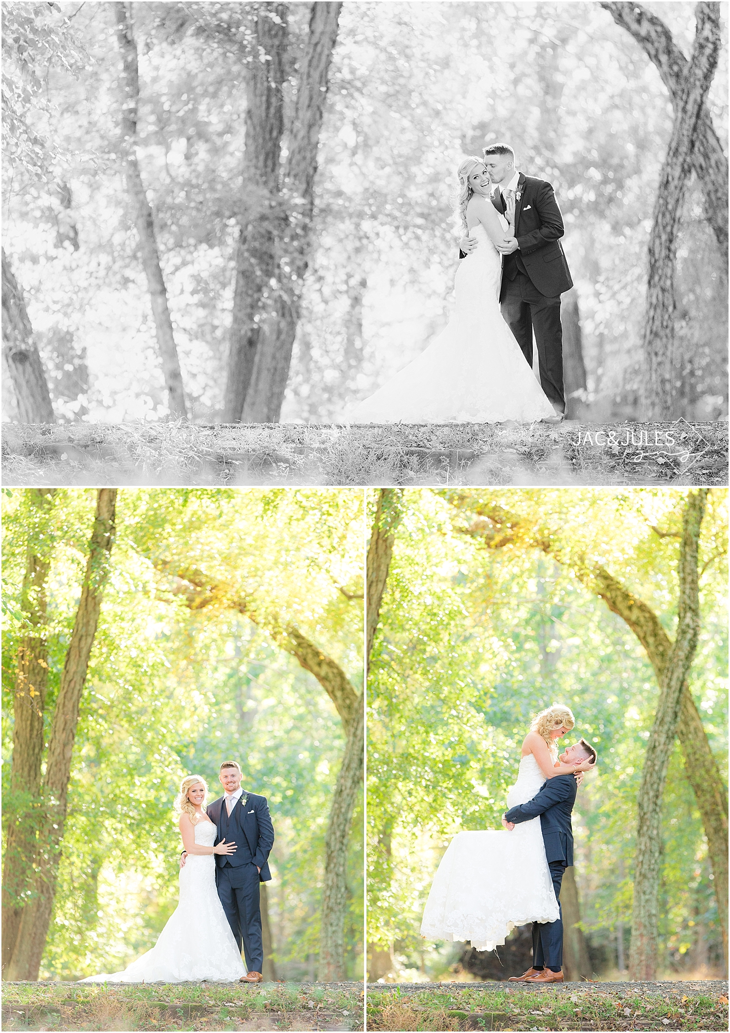 jacnjules uses natural light for bride and groom portraits at Allaire State Park