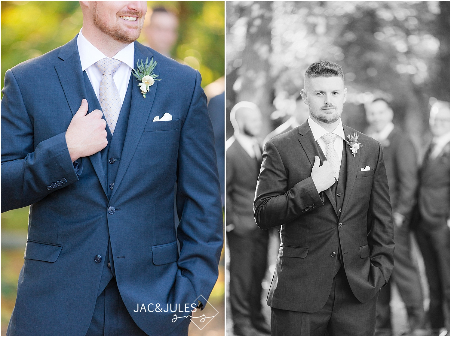 jacnjules photographs groom for his wedding at Allaire State Park, NJ