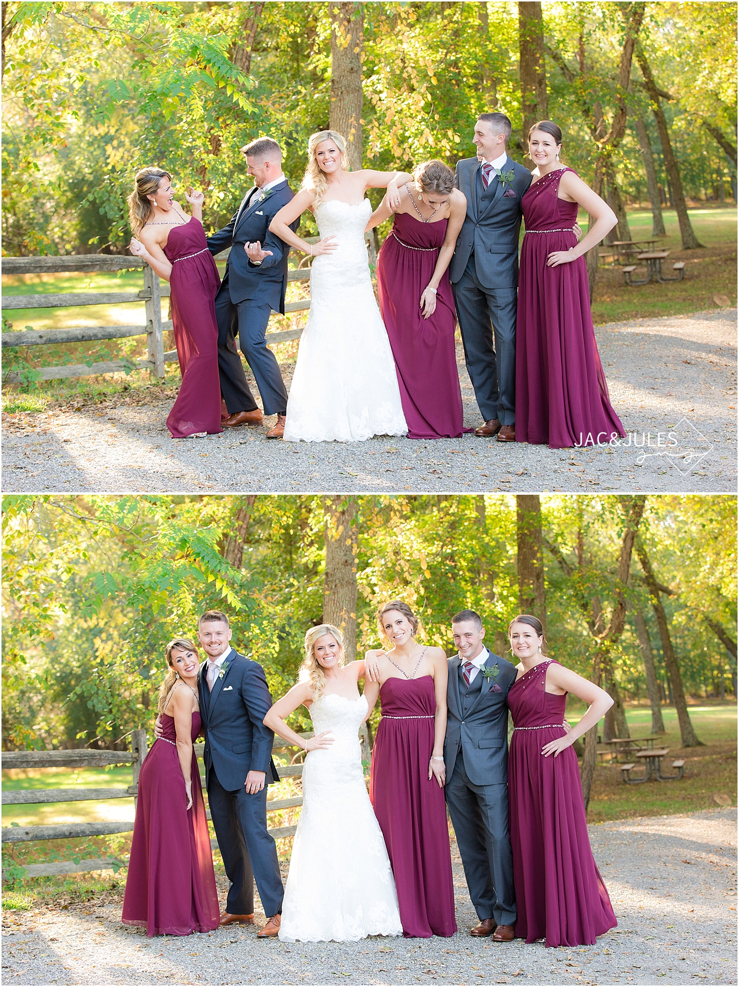jacnjules photographs wedding at Allaire State Park, NJ