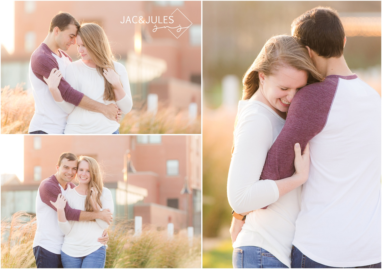 engagement pictures near the Asbury Park Hotel