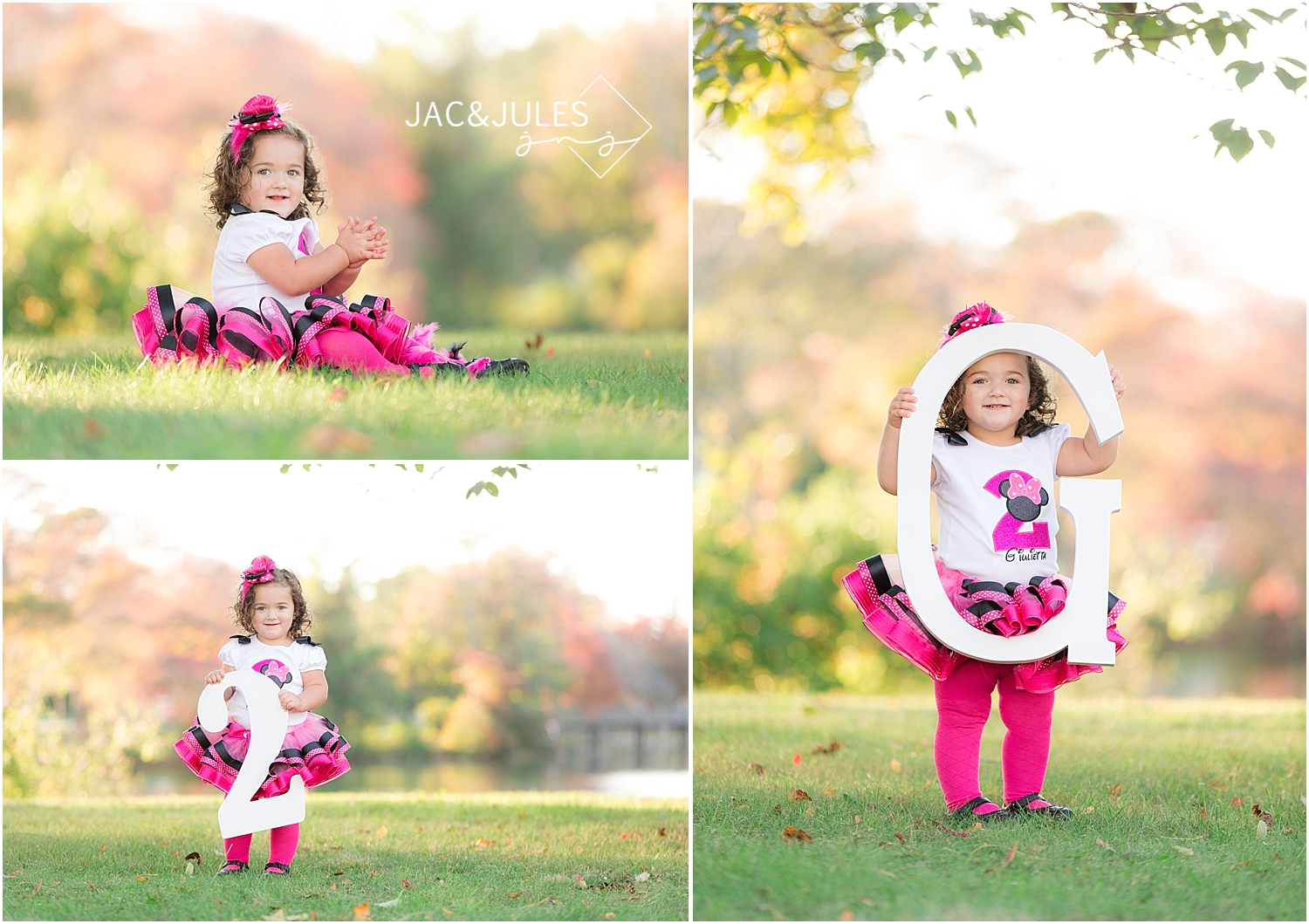 jacnjules photographs two year old child for her birthday at divine park in spring lake nj