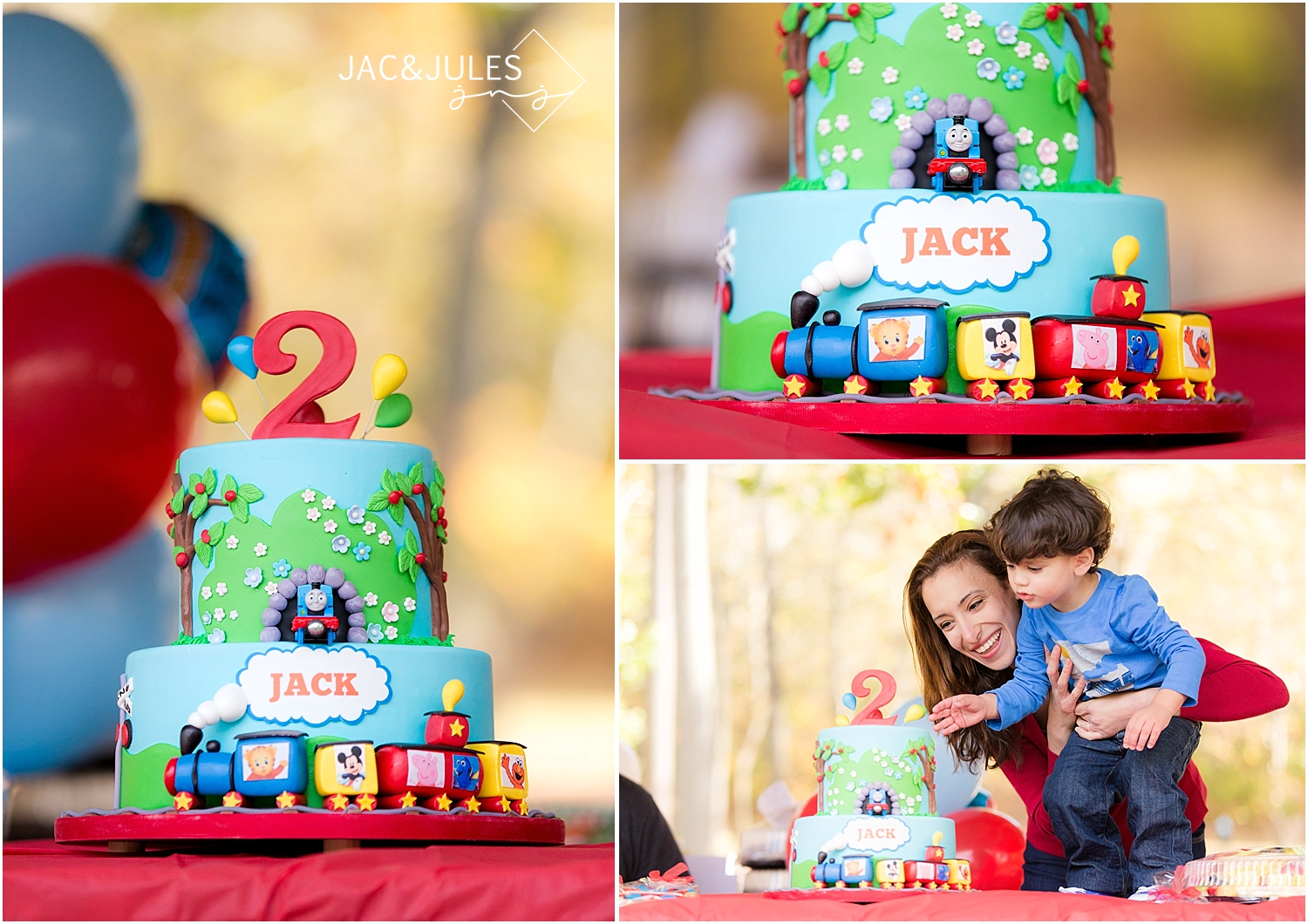 jacnjules photograph train themed birthday party in Paramus, NJ