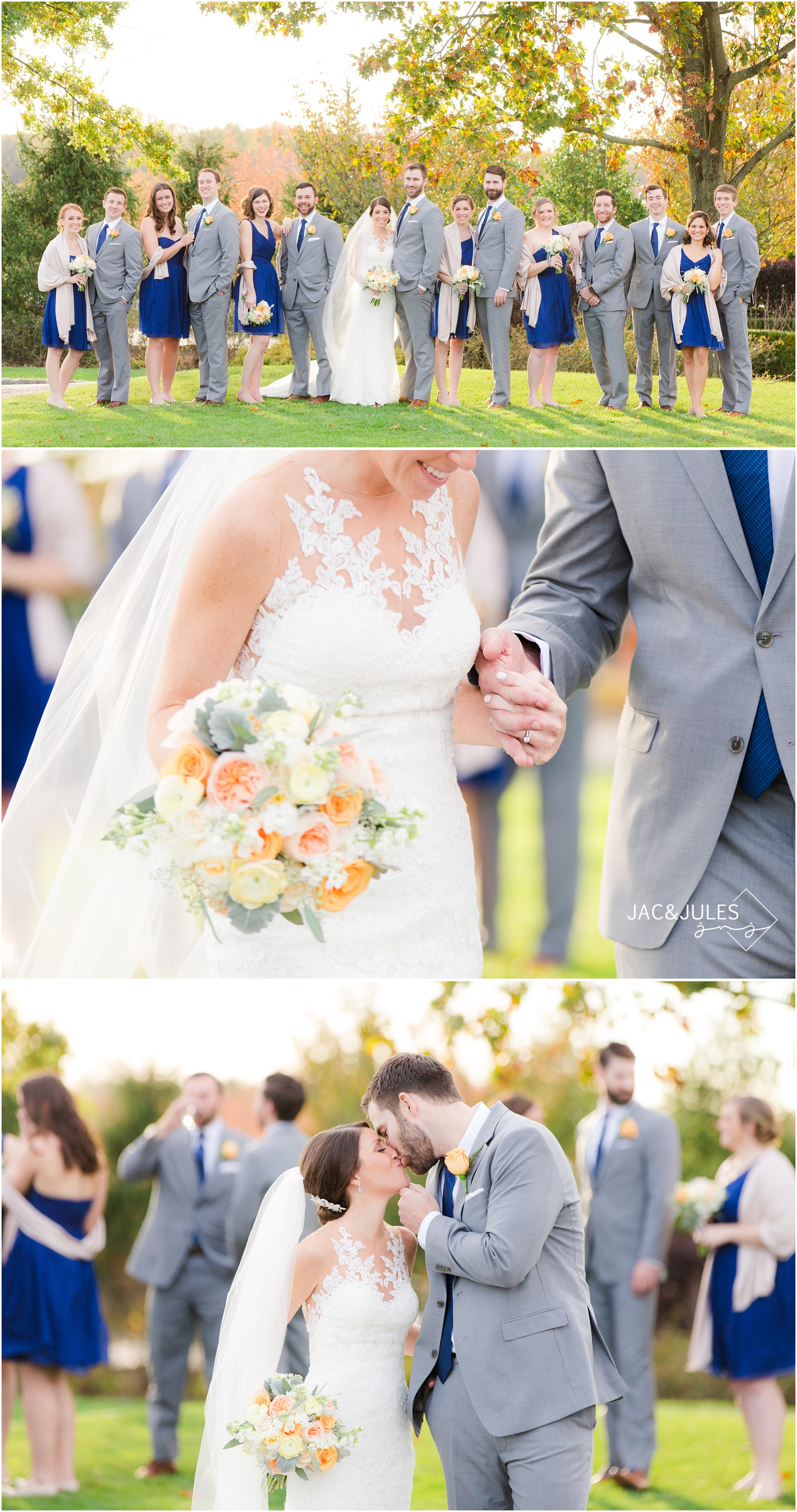 Bridal party photos for Eagle Oaks Golf and Country Club Wedding