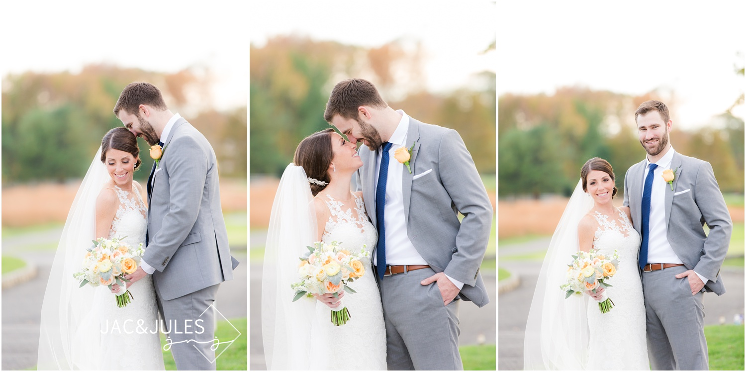Bride and groom photos for Eagle Oaks Golf and Country Club Wedding