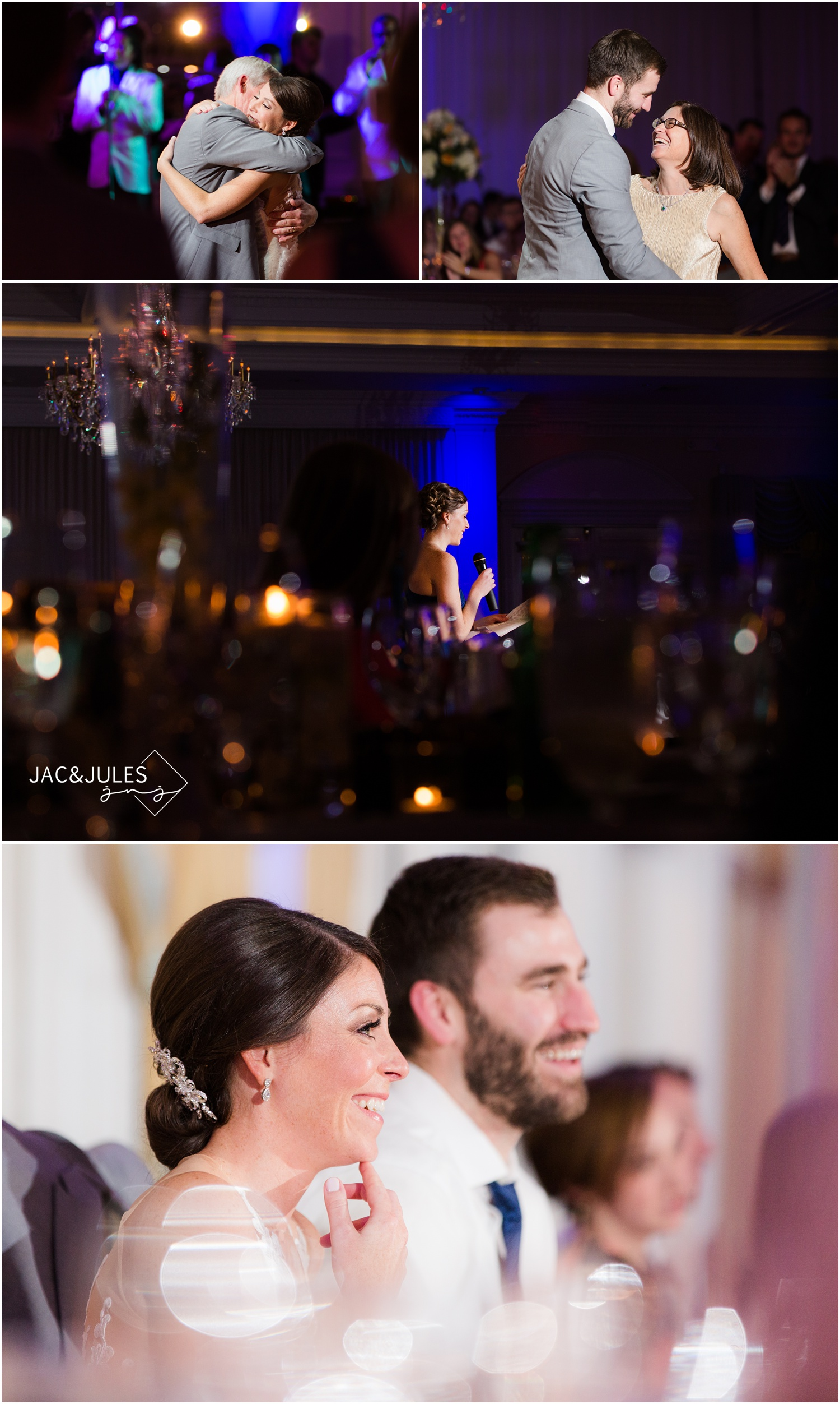 parent dances and speeches at Eagle Oaks Golf and Country Club in Farmingdale, NJ.