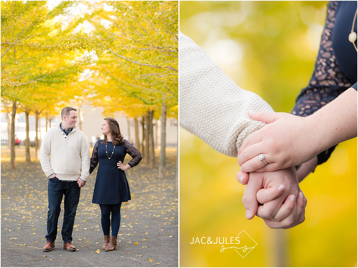 jacnjules photograph engagement session in Hoboken, NJ at Pier A