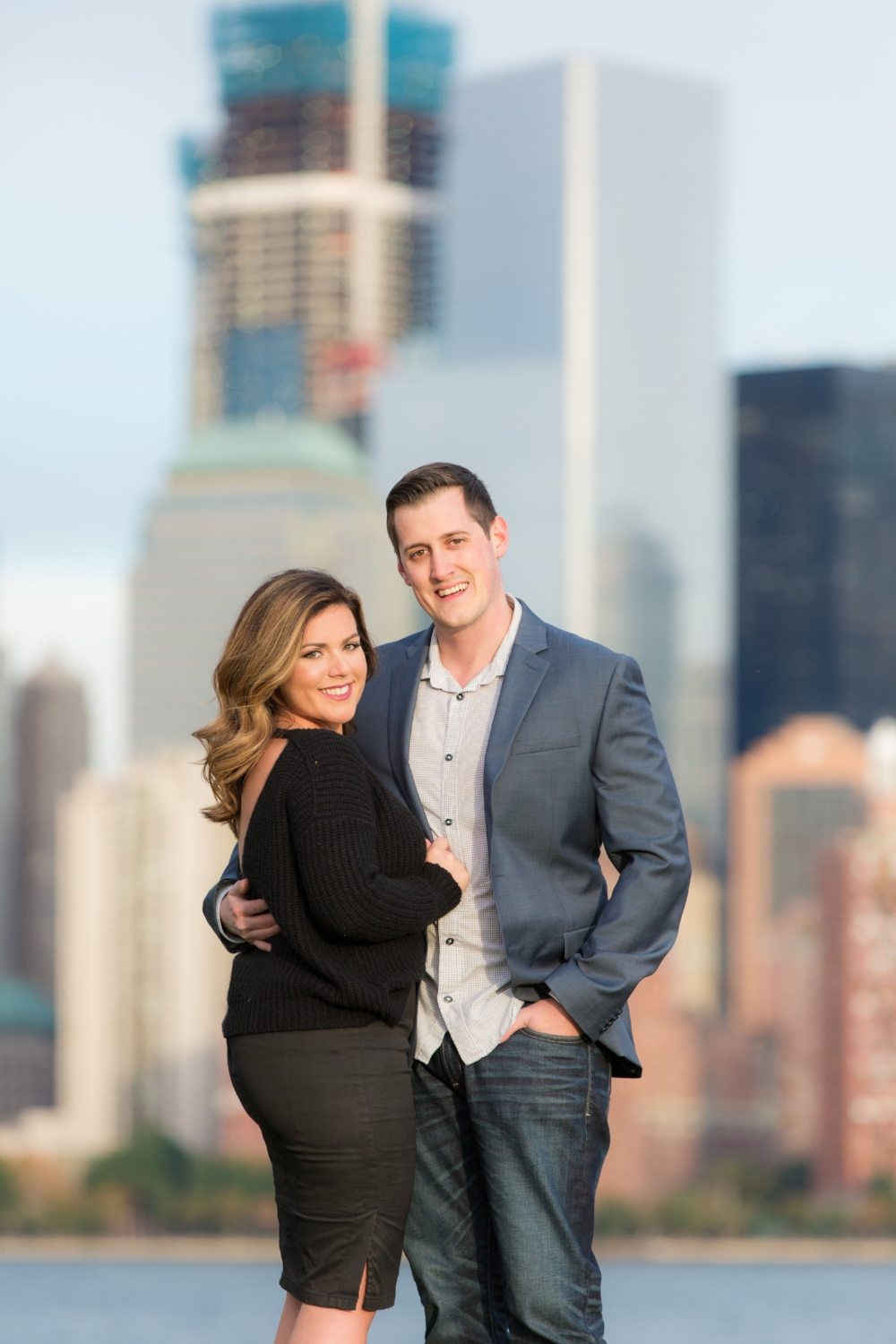 jacnjules photograph engagement session at Liberty State Park in Jersey City NJ