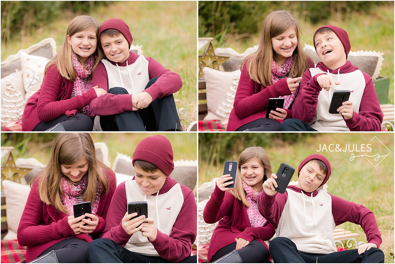 jacnjules photographs children for their holiday photos at lone silo tree farm in NJ