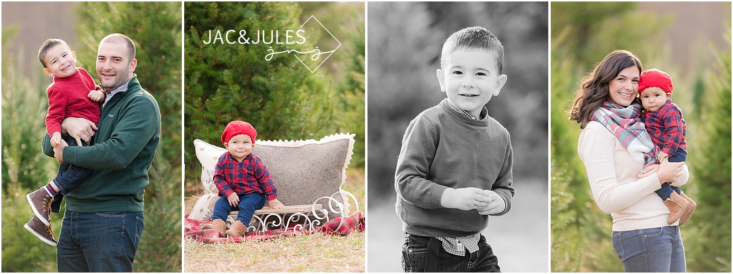 jacnjules photographs fun family for christmas at lone silo tree farm in NJ