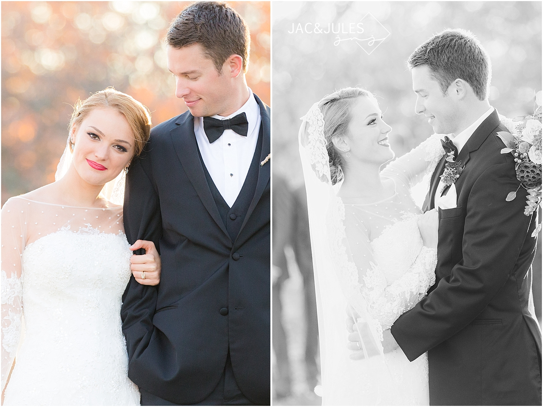 jacnjules photographs fall wedding at divine park in Spring Lake, NJ