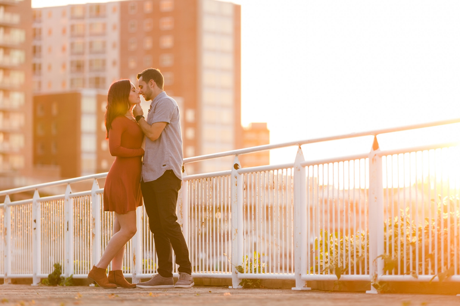 jacnjules photographs engagement in red bank NJ using natural light