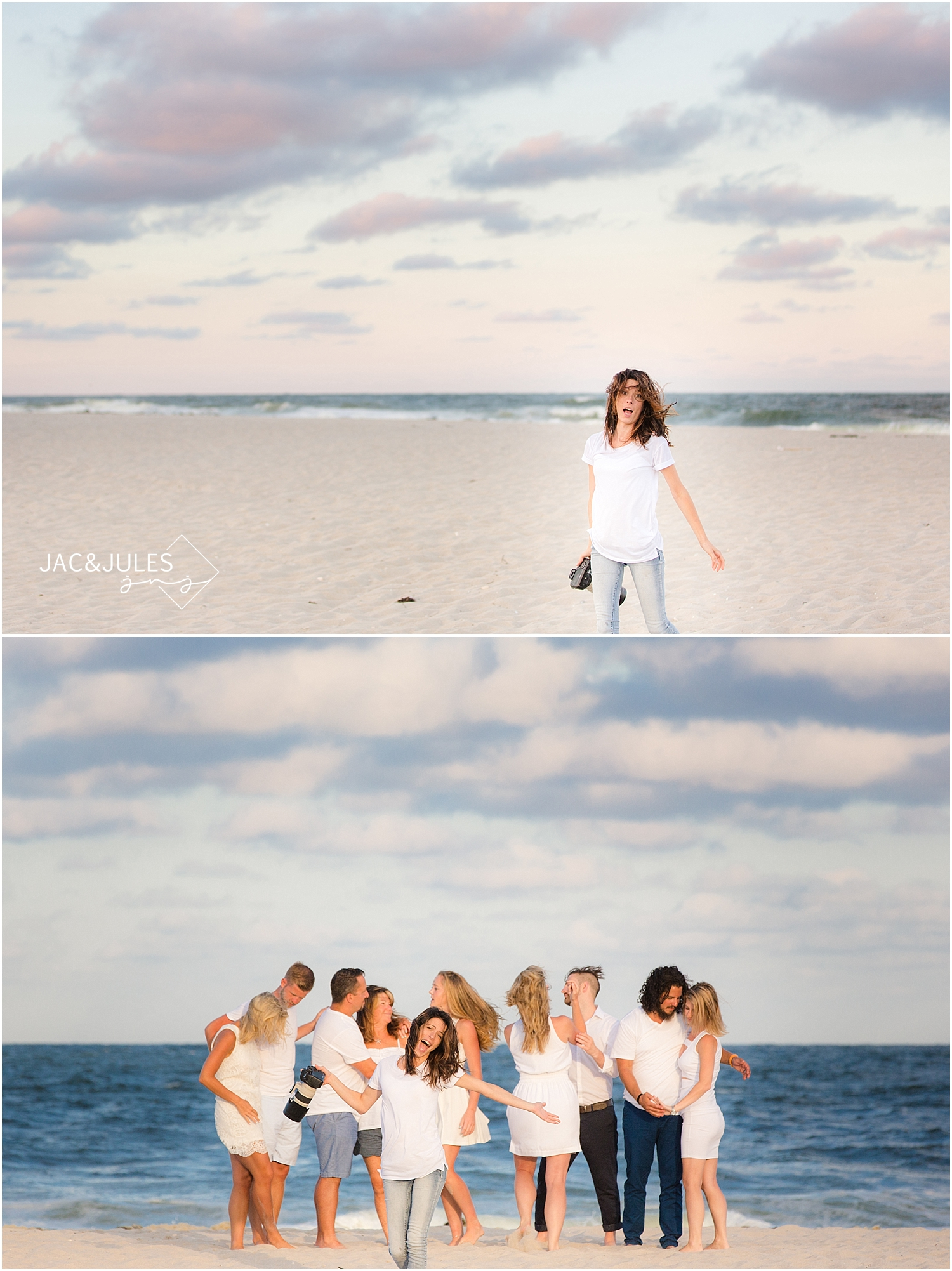 jacnjules photographs fun family on the beach in LBI NJ