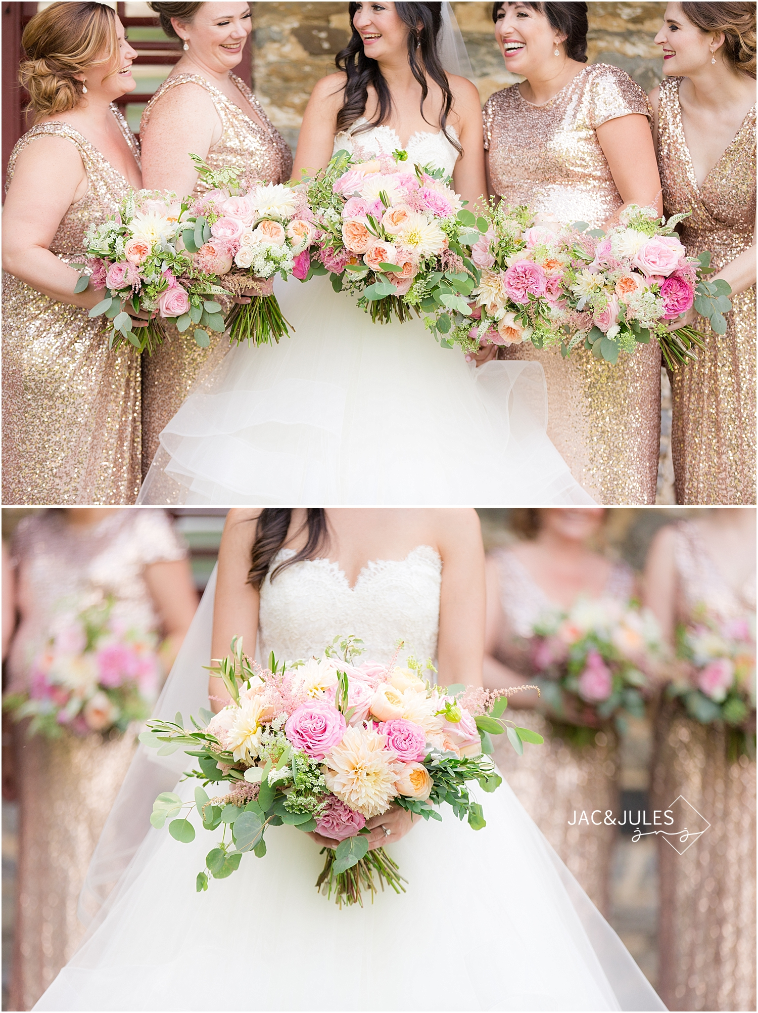 jacnjules photographs wedding bouquets from petals with style in Lancaster, PA