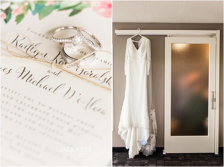jacnjules photographs brides DIY wedding invitations at Oyster Point