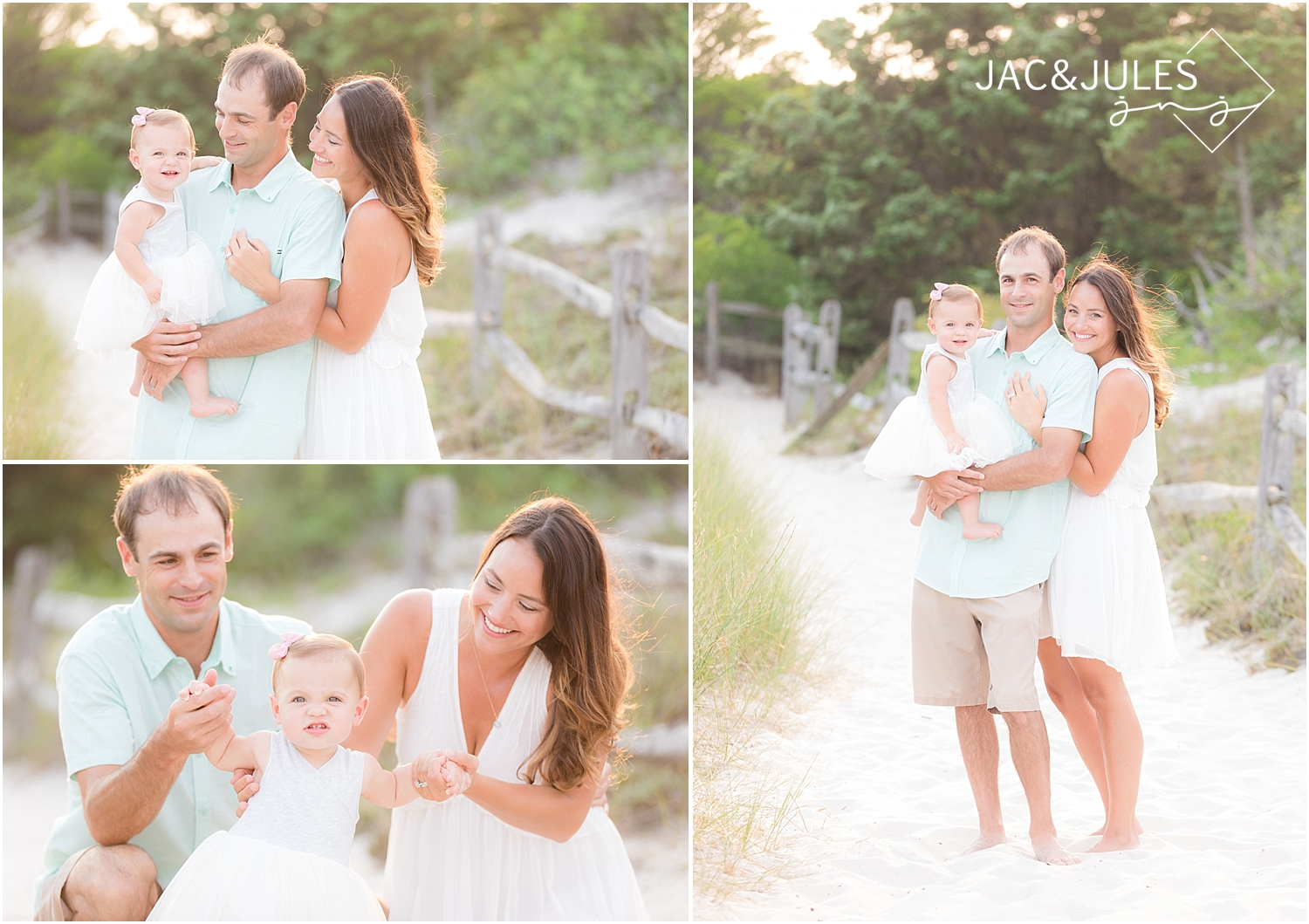 natural light family photos on the beach in new jersey