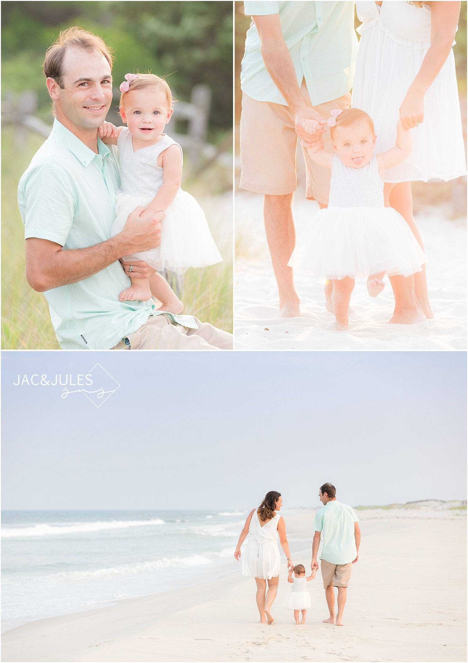 candid natural family photos on the beach at the jersey shore