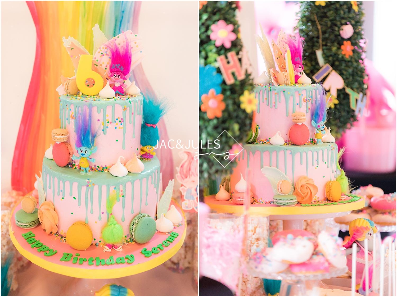 trolls theme birthday cake by hudson cakery