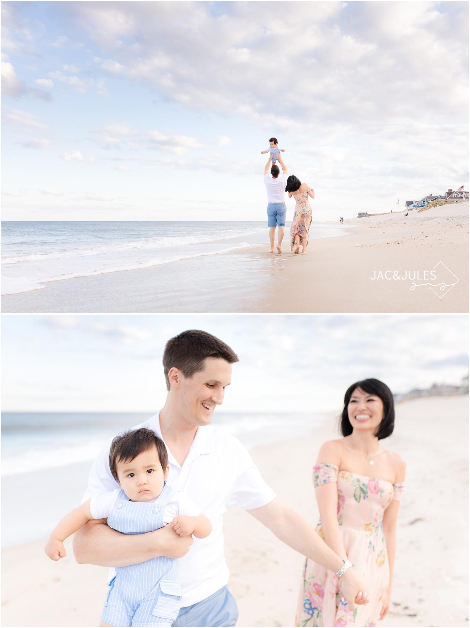 fun family beach photos in Mantoloking, NJ.