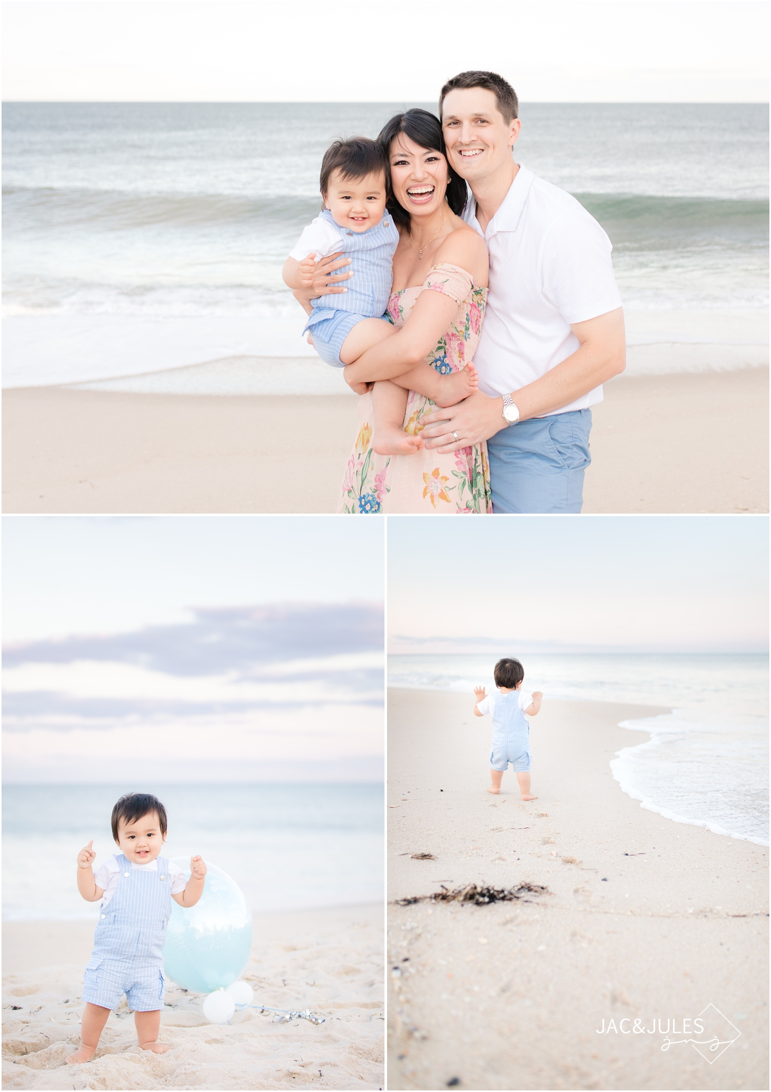 First birthday photos on the beach in Mantoloking, NJ.