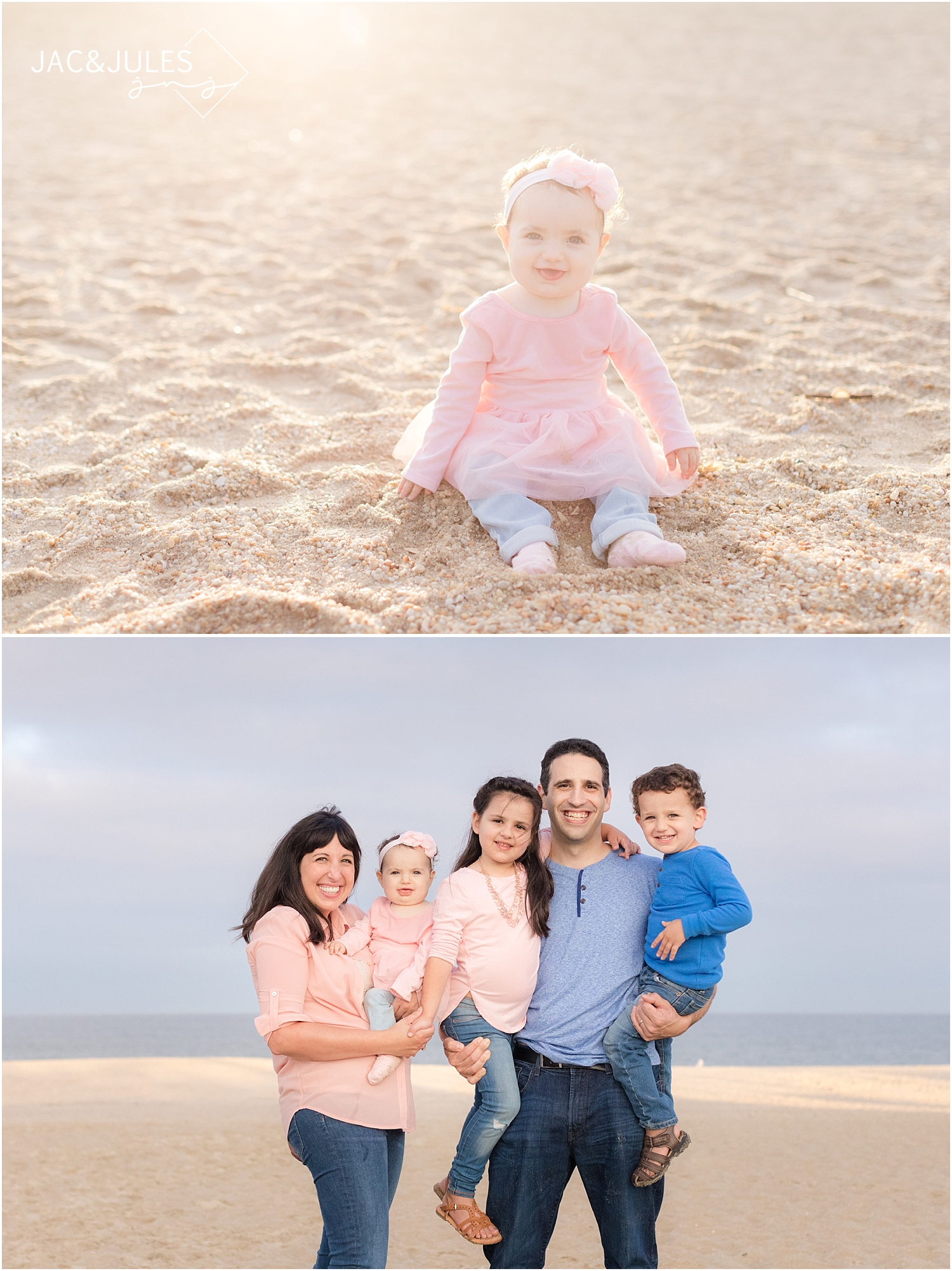 jacnjules photograph one year old girl and her family in point pleasant nj