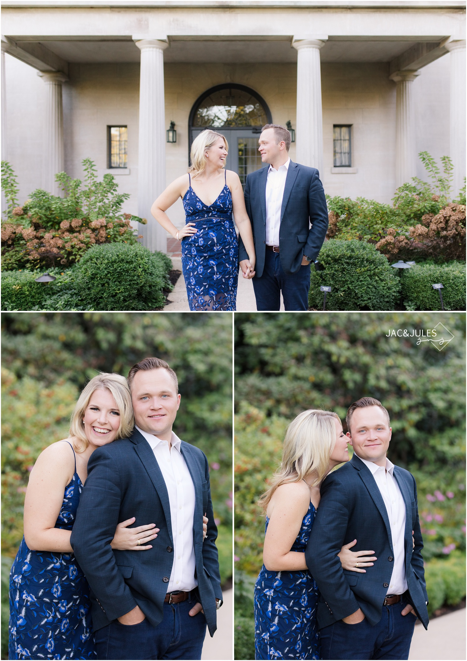 Engagement photos at Van Vleck House and Gardens in Montclair, NJ.