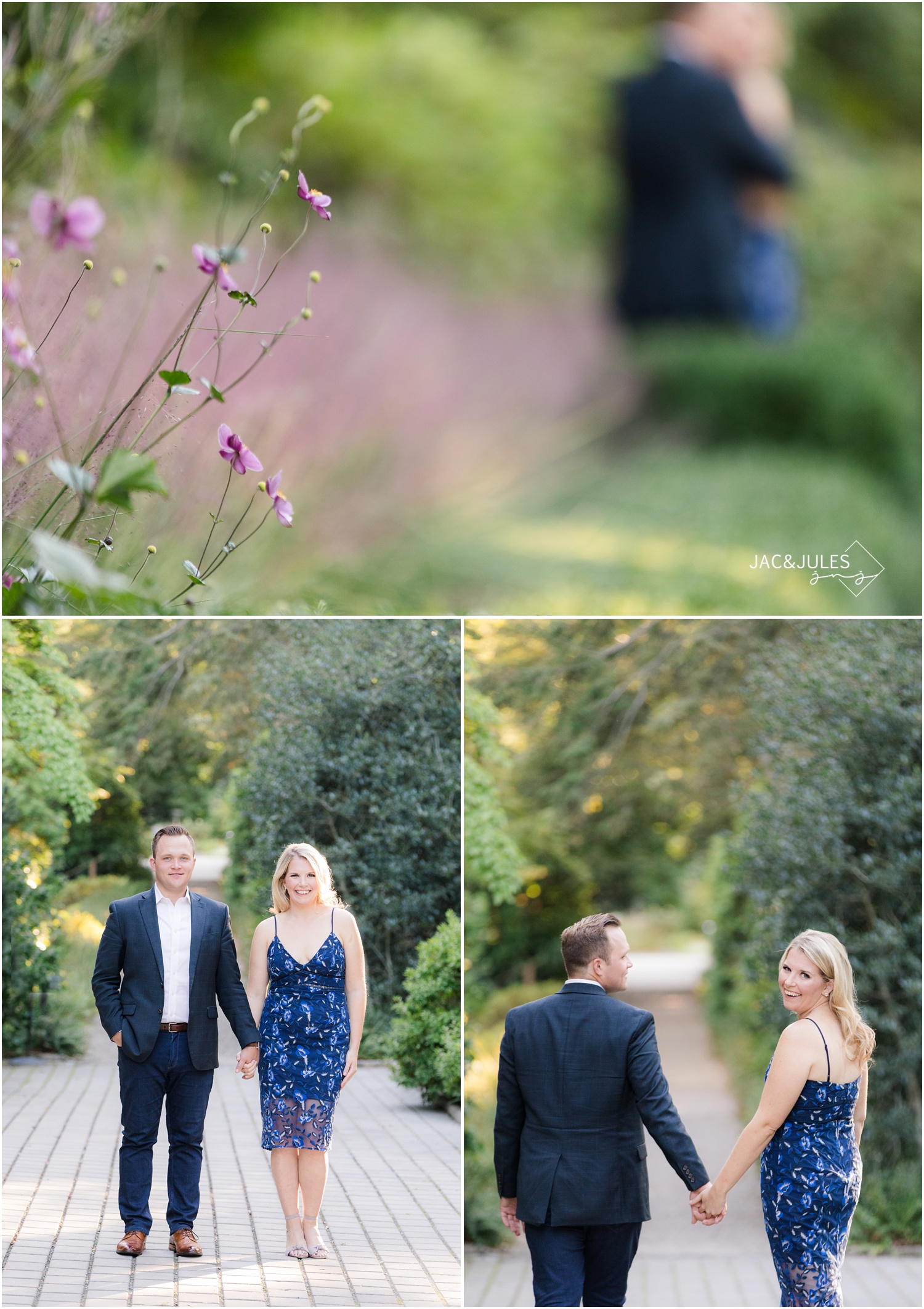 Traditional Engagement photos at Van Vleck House and Gardens in Montclair, NJ.